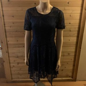 NWT Love fire navy blue dress